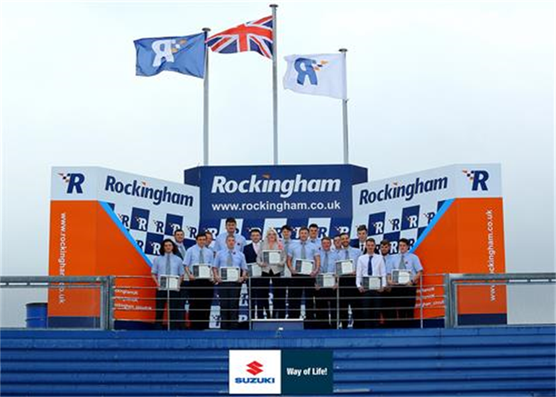 Suzuki celebrates at Rockingham