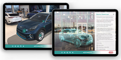 Kia augmented reality app helps drivers 'Go Electric'